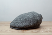 Grey Harris Tweed Vintage cap by Hanna Hats