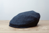 Blue Harris Tweed Vintage cap by Hanna Hats