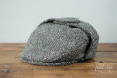 Grey Tweed Cap with Ears by Hanna Hats