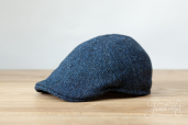 Blue Erin 6-piece Harris Tweed Cap by Hanna Hats