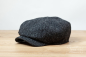 Dark Grey Harris Tweed Woods 8-piece Cap by Hanna Hats