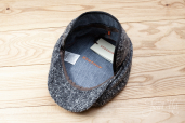 Grey Donegal Tweed Hatteras with Earflaps 8-piece cap #433 by Stetson
