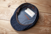 Blue Donegal Tweed Hatteras 8-piece cap #422 by Stetson