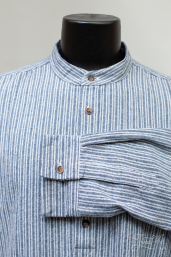 Flannel Grandfather Shirt with Grey Stripe LV37 by Lee Valley Ireland