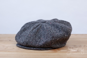 Grey Magee Tweed 8-piece Cap by Hanna Hats