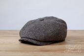 Grey Tweed 8-piece Cap Stetson Hatteras Small Herringbone Wool #333