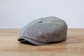 Grey Hatteras Herringbone Silk 8-piece cap #310 by Stetson