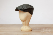 Green Waxed Cotton Vintage cap by Hanna Hats