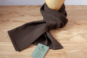 Brown-Swamp Handwoven Herringbone Tweed Scarf by Old Pal