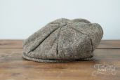 Swamp-brown Tweed 8-piece Cap by Hanna Hats