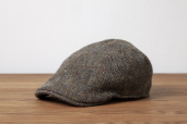 Green-Brown Erin 6-piece Harris Tweed Cap by Hanna Hats