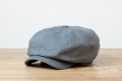 Grey Linen Woods 8-piece Cap by Hanna Hats
