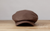 Brown Sean Linen Cap by Hanna Hats