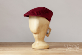 Wine Corduroy Tailor Cap by Hanna Hats