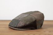 Brown Patchwork Tweed Vintage Cap by Hanna Hats