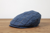 Blue Plaid Harris Tweed Vintage cap by Hanna Hats