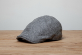 Grey Erin 6-piece Harris Tweed Cap by Hanna Hats