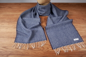 Navy Herringbone Lambswool Scarf by McNutt of Donegal
