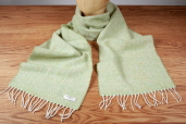 Lime Donegal Tweed Lambswool Scarf by McNutt of Donegal