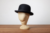Black Furfelt Bowler Hat with Silk Lining and Leather Sweatband by Tonak