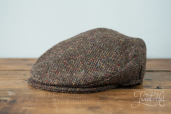 Brown Tweed Vintage Cap by Hanna Hats