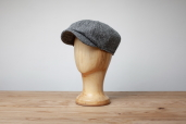Grey Harris Tweed Woods 8-piece Cap by Hanna Hats