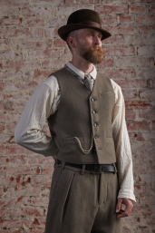 Grey Tweed Waistcoat by Infundibulum, Fair Collection