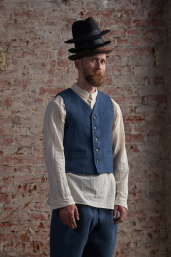 Blue Tweed Waistcoat by Infundibulum, Fair Collection
