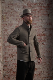 Grey Tweed Coat by Infundibulum, Fair Collection