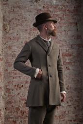 Grey Tweed Frock Coat by Infundibulum, Fair Collection