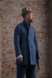 Blue Tweed Frock Coat by Infundibulum, Fair Collection
