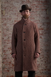 Terracotta Tweed Overcoat by Infundibulum, Fair Collection