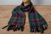 Green Plaid Lambswool Scarf Kerry Woolen Mills