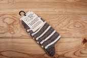 Striped Knitted Sheep Wool Socks with Dark Heel by Kerry Woollen Mills