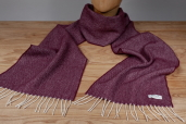 Mulberry Herringbone Lambswool Scarf by McNutt of Donegal