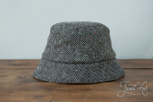 Grey Tweed Wee Thatch Hat by Hanna Hats