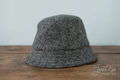 Grey Tweed Eske Hat by Hanna Hats