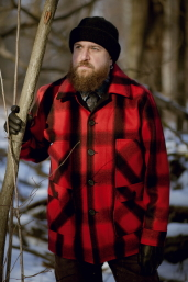 Red-Black Plaid Mackinaw Coat Stormy Kromer