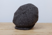 Dark-grey Herringbone Donegal Tweed 8-piece Cap 1920 by City Sport