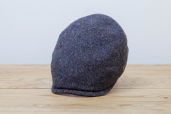Blue Donegal Tweed 6-piece Cap by City Sport