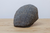 Grey Herringbone Harris Tweed Cap 1960 by City Sport