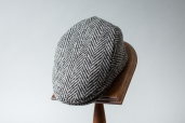 Grey Wide Herringbone Donegal Tweed Cap 1960 by City Sport