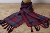 Red-Blue Plaid Lambswool Scarf Kerry Woolen Mills