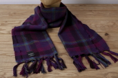 Purple Plaid Lambswool Scarf Kerry Woolen Mills