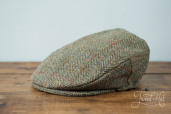 Green Harris Tweed Cap by Hanna Hats