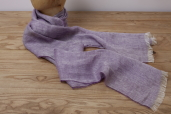 Lilac Herringbone Linen Scarf by McNutt of Donegal