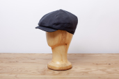 Navy Herringbone Linen Woods 8-piece Cap by Hanna Hats