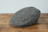 Grey Tweed Vintage Cap by Hanna Hats