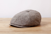 Grey-Brown Herringbone Silk 6-panel cap #330 by Stetson