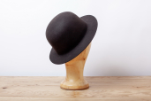 Dark Brown Furfelt Bowler Hat with Stretch Sweatband and without Lining by Tonak